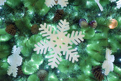 Christmas tree fragment Royalty Free Stock Images