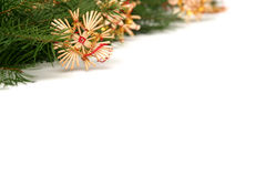 Christmas tree frame Stock Photography