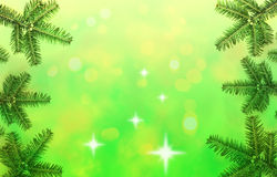 Christmas tree frame Royalty Free Stock Photo