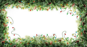 Christmas tree frame Stock Photos
