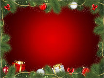 Christmas tree frame Stock Images