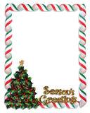 Christmas tree frame border Royalty Free Stock Photography