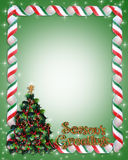 Christmas tree frame border Stock Images