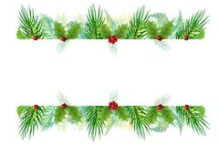 Free Christmas Tree Frame Border Banner Vector Image Stock Images - 171950904