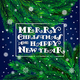 Christmas tree with frame Royalty Free Stock Images
