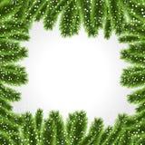 Christmas tree frame Christmas decoration vector royalty free illustration