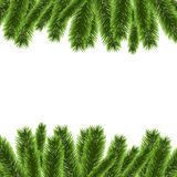 Christmas tree frame decoration vector. Illustration Royalty Free Stock Photography