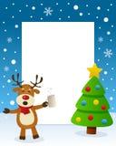 Christmas Tree Frame - Drunk Reindeer Stock Images