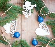Christmas tree frame Stock Photography
