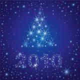 Christmas Tree From Stars On The Sky Stock Photo