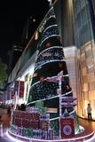 Christmas tree in front of Gaysorn Plaza stock photo