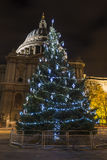 Christmas tree in front of St. Paul's Cathedral royalty free stock images