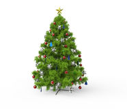 Christmas Tree - Front View Stock Photo