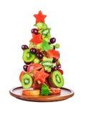 Christmas Tree Fruit Salad Stock Photo