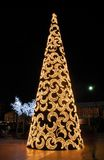 Christmas tree, Fuengirola, Spain. Stock Photos