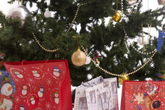 Christmas Tree Full of Gifts Royalty Free Stock Image