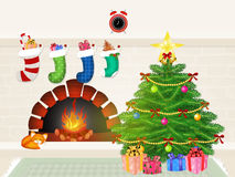 Christmas tree. Funny illustration of Christmas tree Stock Images