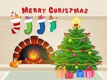 Christmas tree. Funny illustration of Christmas tree Royalty Free Stock Photo