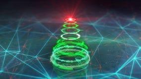 Christmas tree futuristic style illustration Stock Images