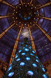 Christmas tree at Galeries Lafayette department store. Stock Photo