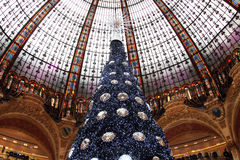 The Christmas tree at Galeries Lafayette, Paris Royalty Free Stock Image