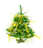 Christmas tree with garland. Isolated on a white background Stock Image
