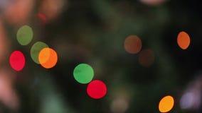 Christmas tree garland blur stock video