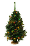 Christmas tree with garland Stock Photos