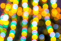 Christmas tree garland twinkles background Stock Photos