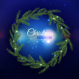 Christmas tree Garland 02 A Royalty Free Stock Photo