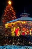Christmas tree & gazebo Royalty Free Stock Photography