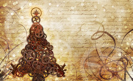 Christmas tree steampunk royalty free illustration