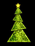 Christmas Tree - geometric stock photo