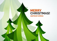 Christmas tree geometric design Stock Photos