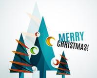 Christmas tree geometric design Stock Photography