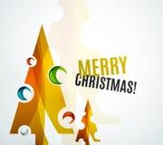Christmas tree geometric design Royalty Free Stock Image