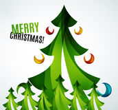 Christmas tree geometric design Stock Photo