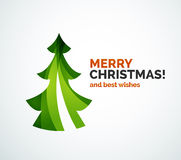 Christmas tree geometric design Royalty Free Stock Photos