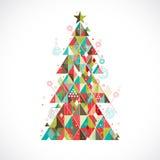 Christmas tree with geometric graphic decorate, illustrat stock illustration