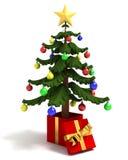 Christmas Tree Gift Stock Photo