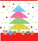 Christmas tree and gift box Royalty Free Stock Photography