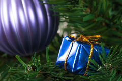 Christmas Tree with Gift Box Stock Images