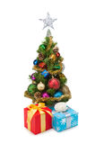 Christmas tree&gift boxes-13 Royalty Free Stock Photo