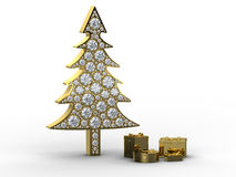 Christmas tree with gift boxes Royalty Free Stock Photography
