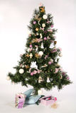 Christmas tree - with gift-boxes Royalty Free Stock Photography