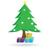 Christmas tree and gift boxes. This is christmas tree and gift boxes Stock Photos