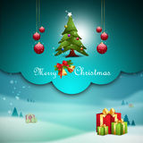Christmas tree and gift boxes Royalty Free Stock Photography