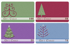 Christmas tree gift cards Royalty Free Stock Photography