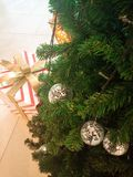 Christmas tree and gift Royalty Free Stock Photo
