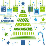 Christmas Tree with Gifts royalty free illustration